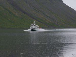 """Das Boot zurück nach Isafjördur ist im """"Anflug"""""""