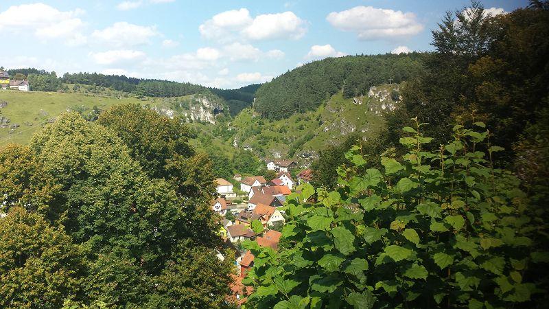 Blick von der Burg Pottenstein