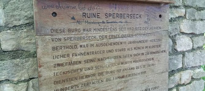 Schwäbische Alb – Ruine Sperberseck