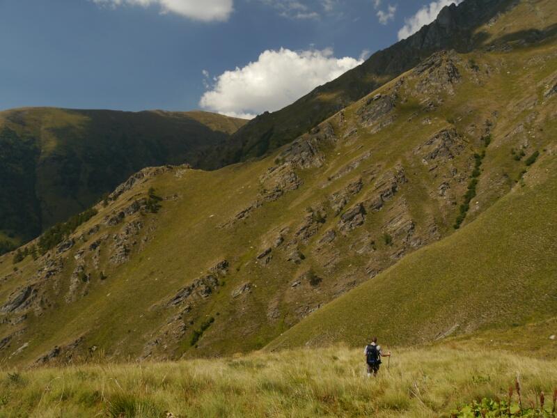 Abstieg ins Rilatal