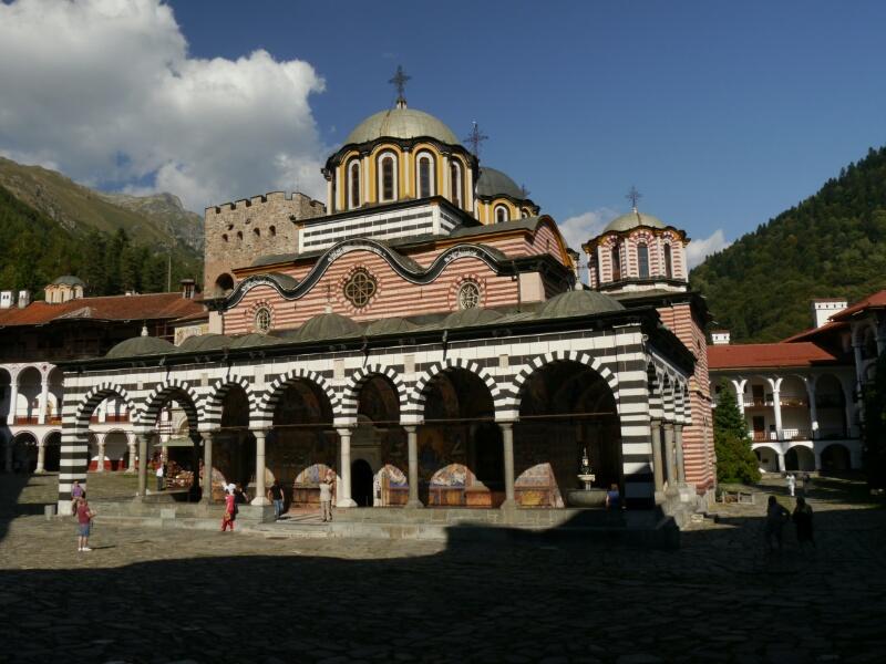 Kirche im Innenhof des Rila Kloster