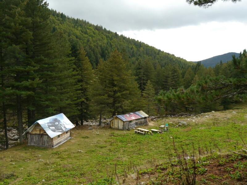 Schäferhütten mit Toyotabedachung