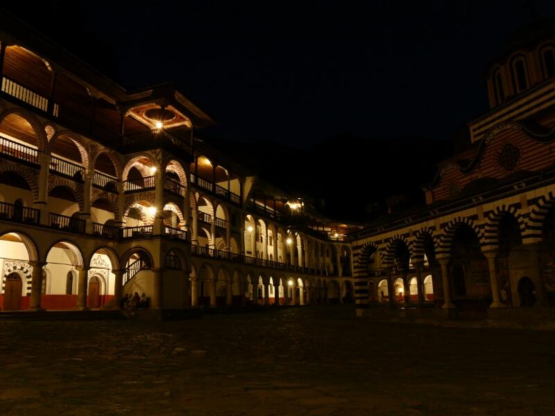 Innenhof des Rila Kloster
