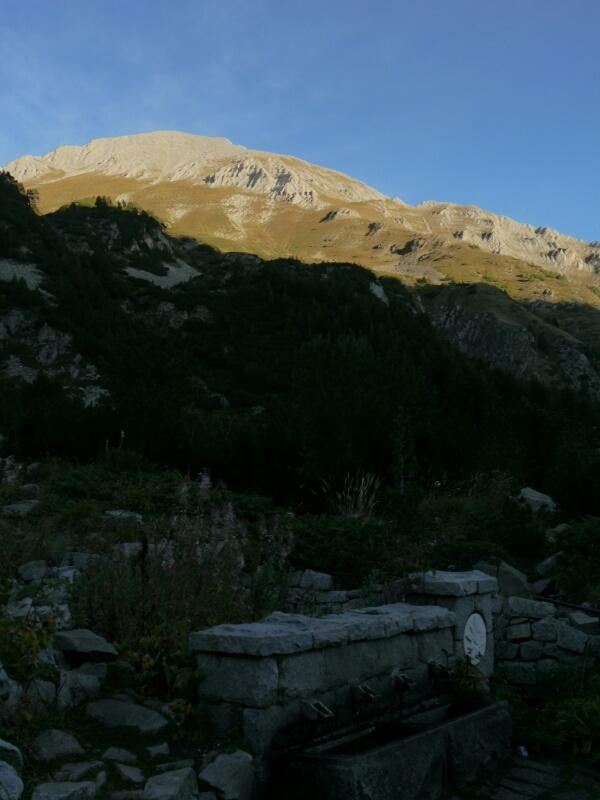 Vihren Gipfel von der Hütte aus