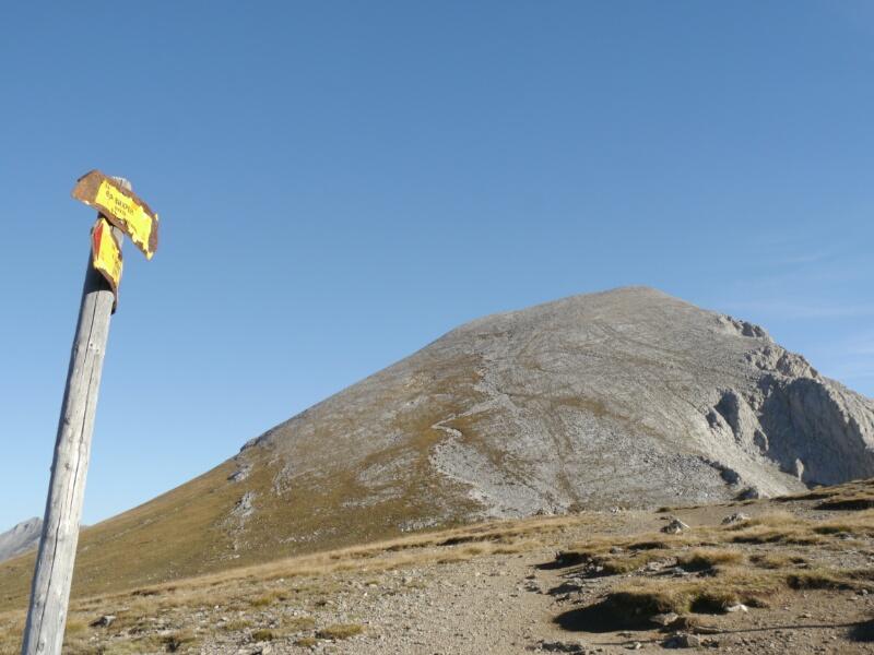 Sattel Vicherinski Preslap - Gipfelpyramide im Hintergrund