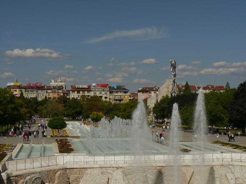 Platz vor dem Kulturpalast